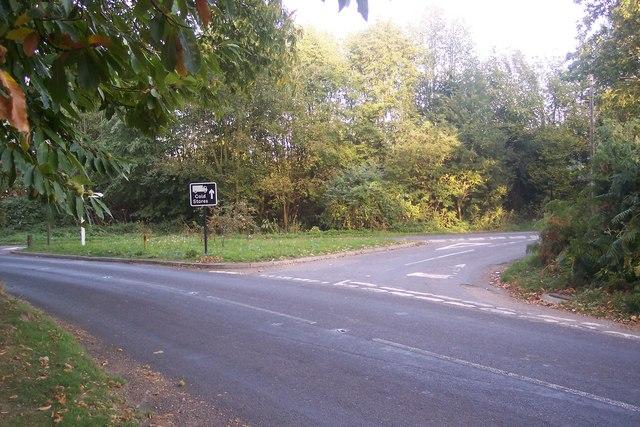 Road junction on Lamberhurst Road