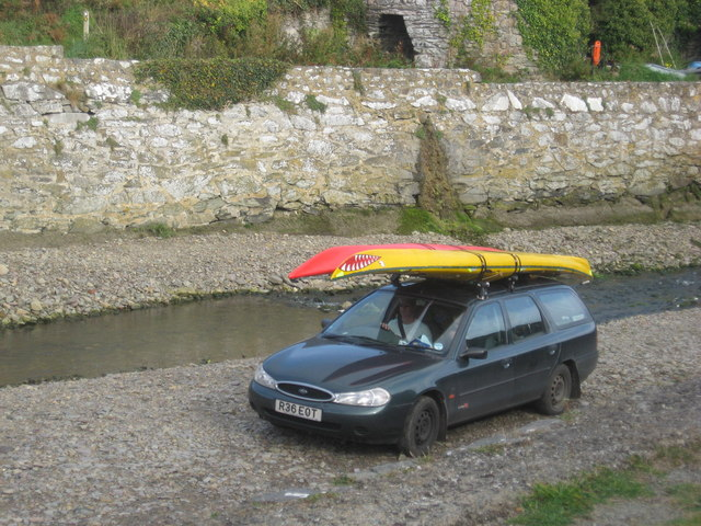Boat launch and retrieval ramp at Porth Clais