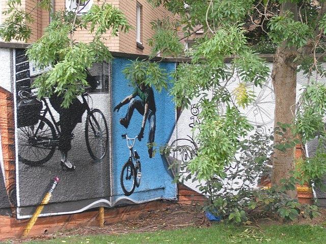 Mural, Kelvingrove Park. 7 - bicycles