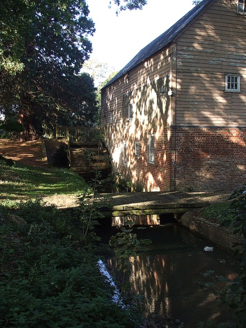 Mill race, wheel and old mill, Flitwick
