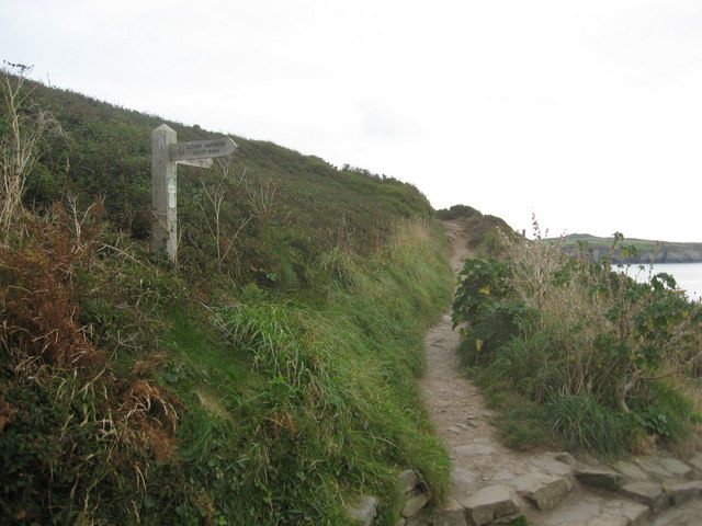The Pembrokeshire Coastal Path at St Justinian