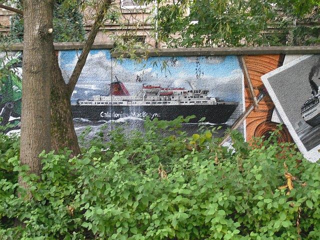 Mural, Kelvingrove Park. 10 - Ferry