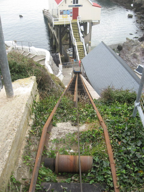 Cliff railway to deliver heavy items to the lifeboat station