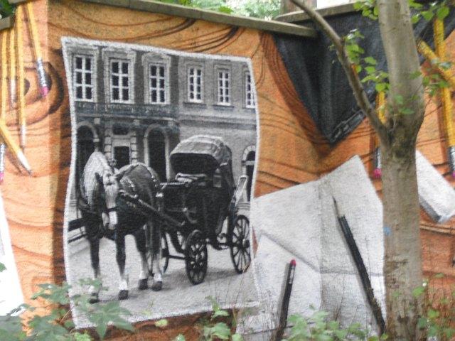 Mural, Kelvingrove Park. 14 - Horse drawn