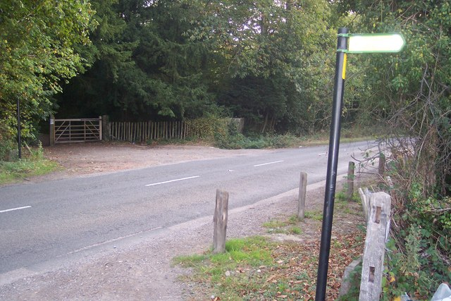 The High Weald Landscape Trail crosses Brenchley Road