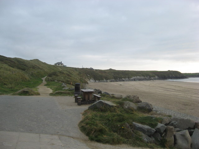 The Pembrokeshire Coastal Path at White Sands beach