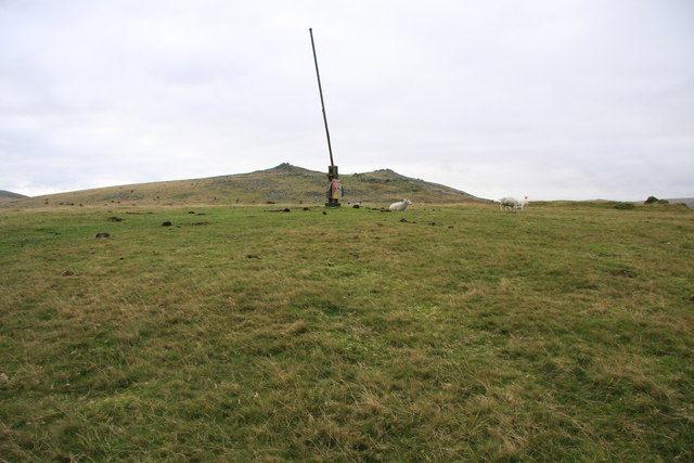 Military flagpole on Watchet Hill
