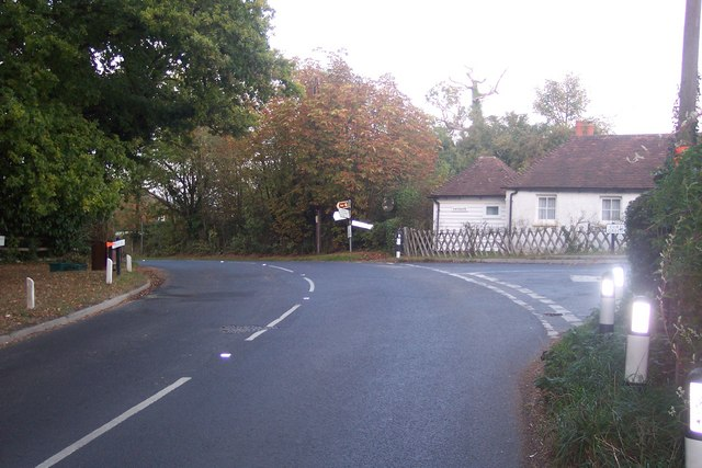 The B2079 Goudhurst Road junction at Winchet Hill