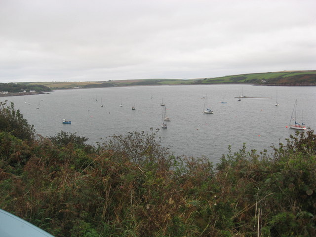 Yachts moored in Dale Roads