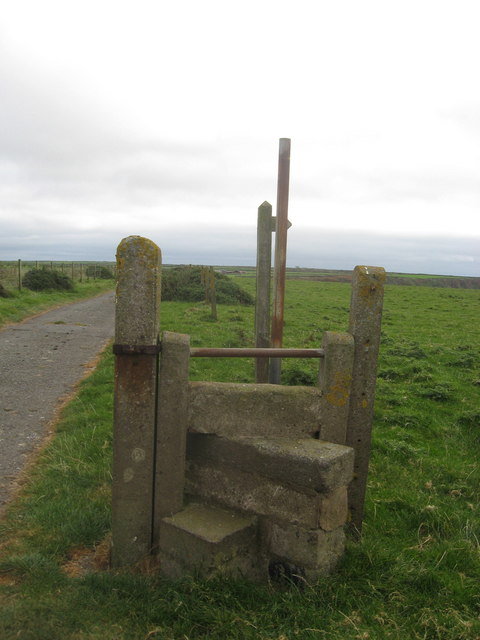 A lonely stile adjacent to Dale airfield