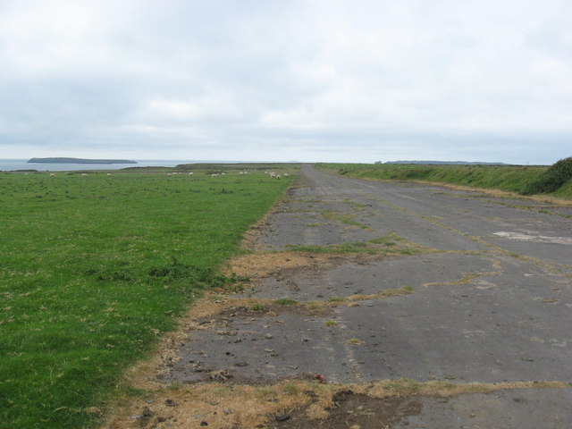 The perimeter track of Dale airfield looking NW