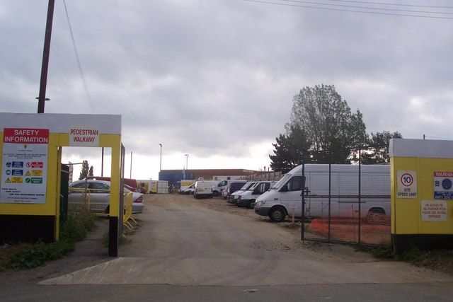 Construction site at Community College, Whitstable