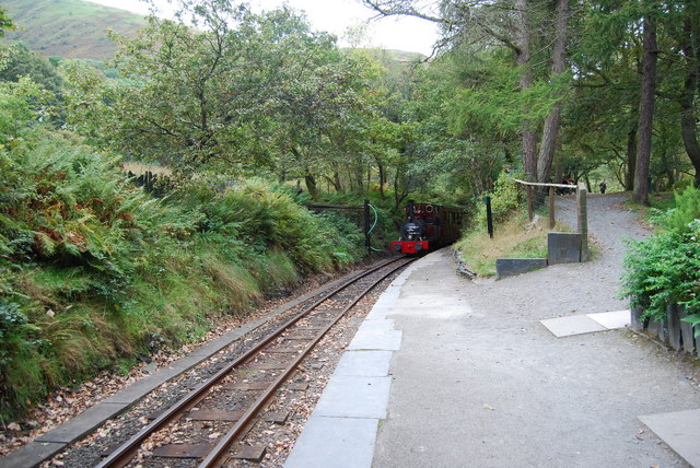 Train approaching, Dolgoch