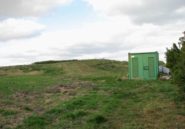 Pump house beside irrigation reservoir