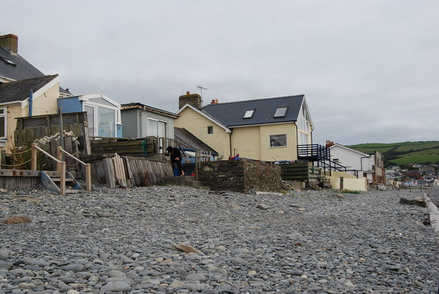 Houses on the seafront, Borth