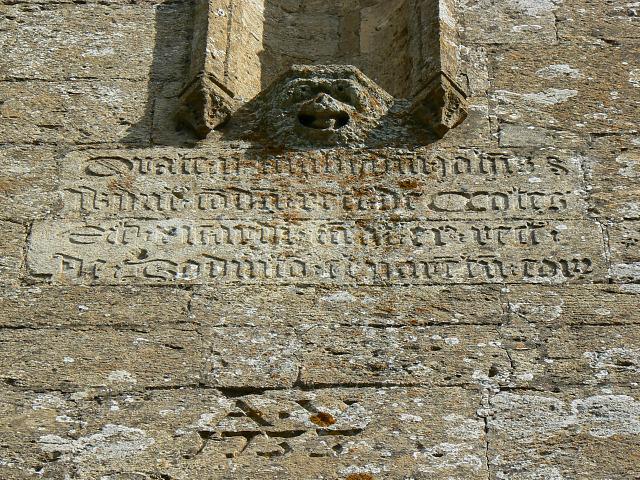 Inscription, St Matthew's church, Coates