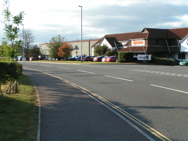 Exeter Business Park, on the B3184, looking west