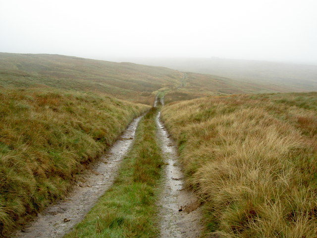 The track across Great Hunters Sleet