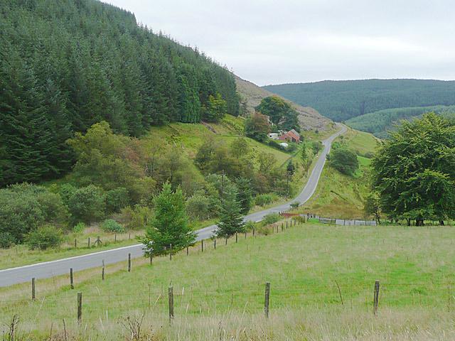 The road to Llyn Brianne, Cwm Tywi, Powys