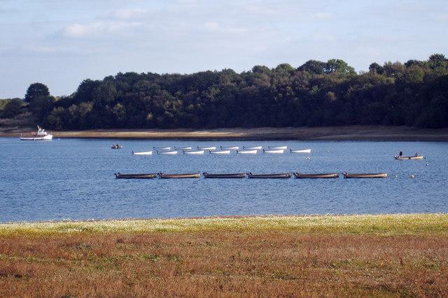 Boats on Bewl Water Reservoir