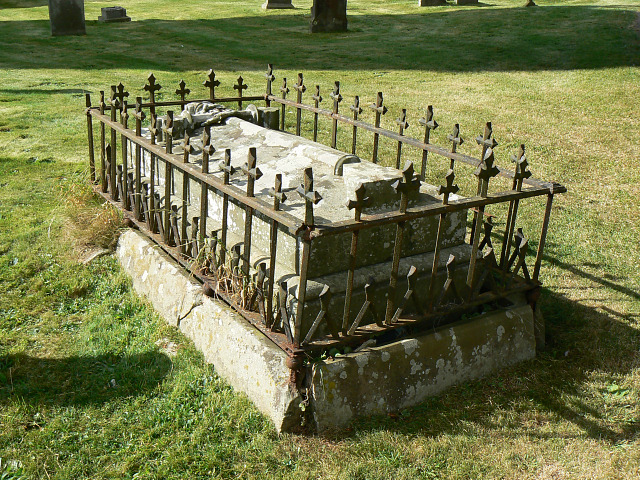 An important person's tomb, St Matthew's church, Coates