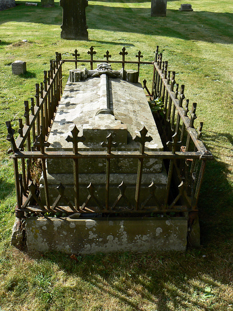 A fine tomb, St Matthew's church, Coates