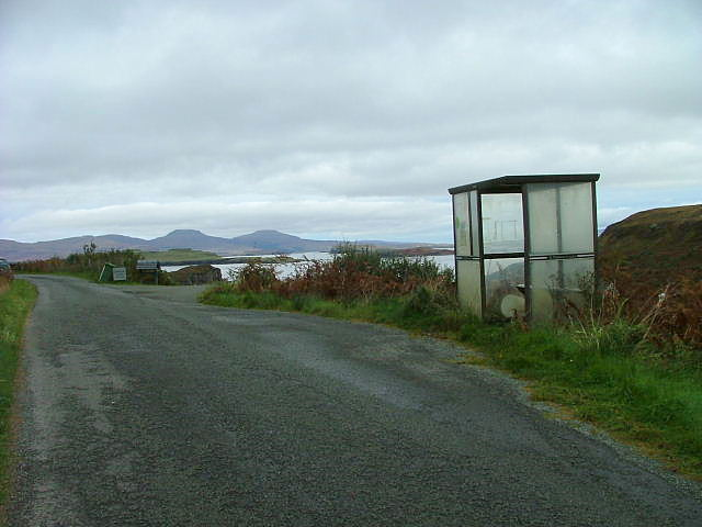 Bus shelter on the Fiskavaig road
