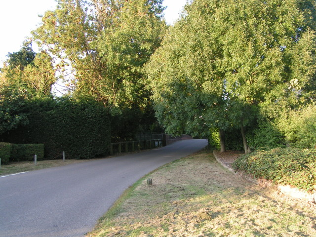 Road and the bridge over the river in Rockbeare