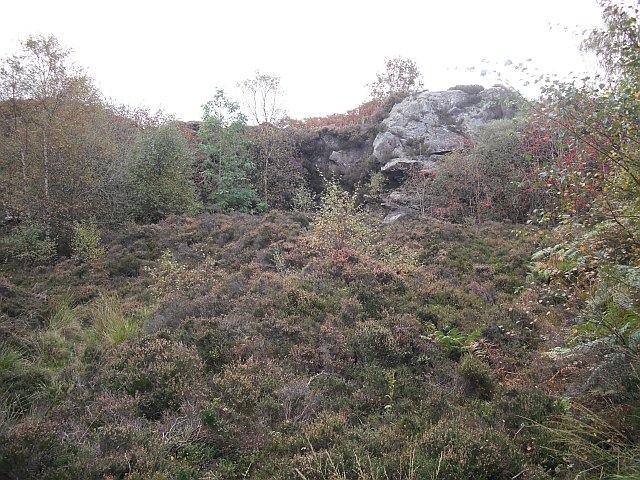 Old quarry, Loch Ardinning