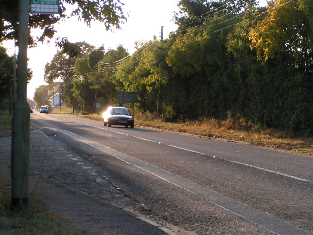 Rockbeare straight, the old A30, a Roman road, looking west