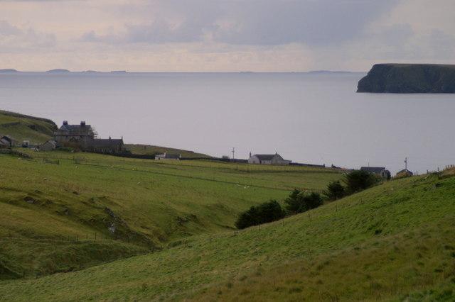 Looking down the Burn of Feal, Fetlar