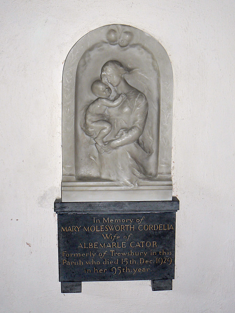 Memorial, St Matthew's church, Coates