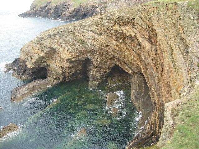Caves below Wooltack Point
