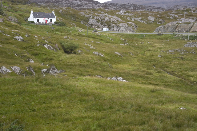 Cottage and hillside Fionnsbhagh