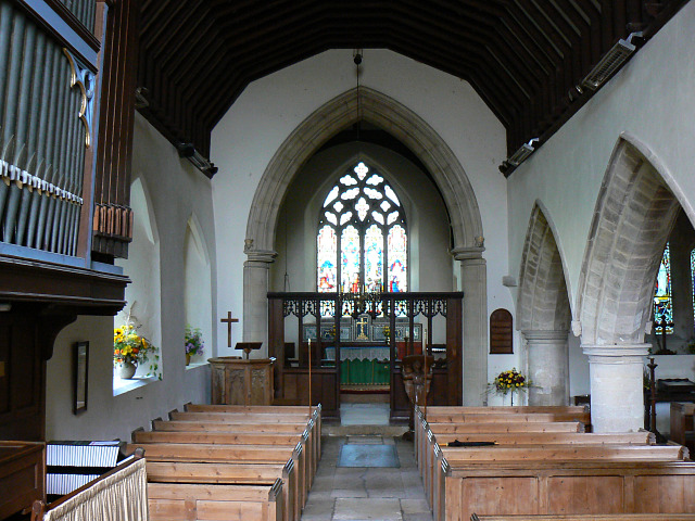 The chancel of St Matthew's church, Coates