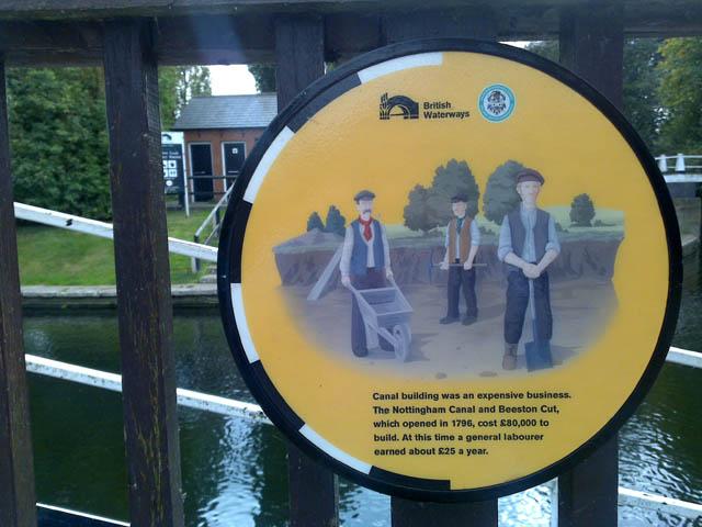 Plaque by Beeston Lock