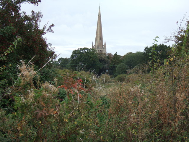 The church spire at Snettisham