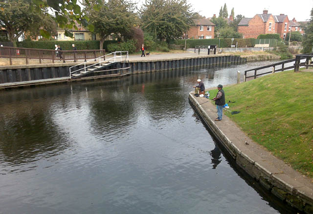 Fishing by Beeston Lock