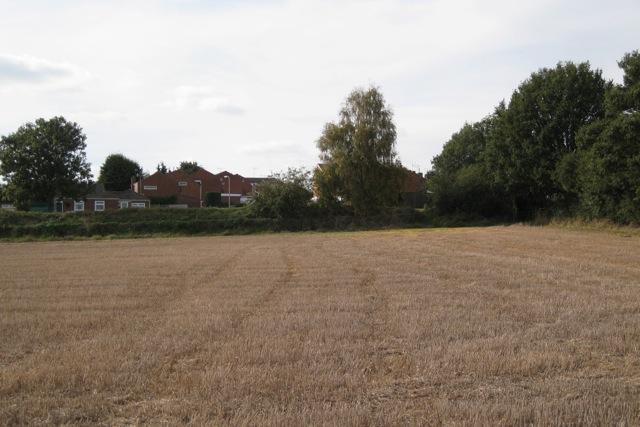 Eastern extremity of Hampton Magna village