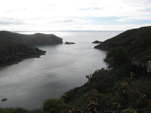 The entrance to Solva harbour
