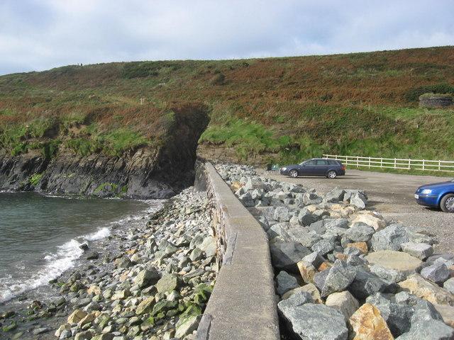 Coastal defences at Abereiddy bay
