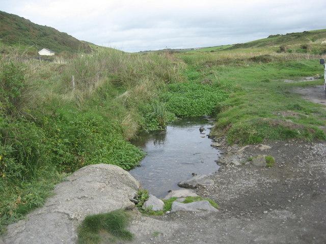 Small spring fed stream at Abereiddy bay