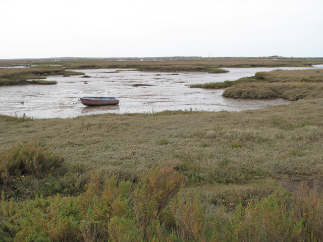 Mud and marshes at Brancaster Staithe