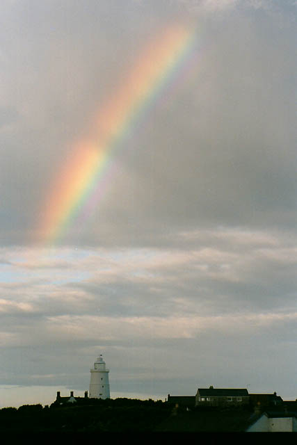 Rainbow Over St Agnes Lighthouse