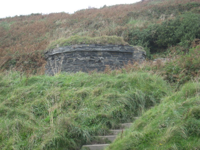 Former gunpowder store at Abereiddy slate quarry