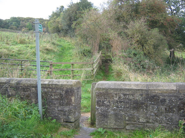 Two footpath stiles Evenwood