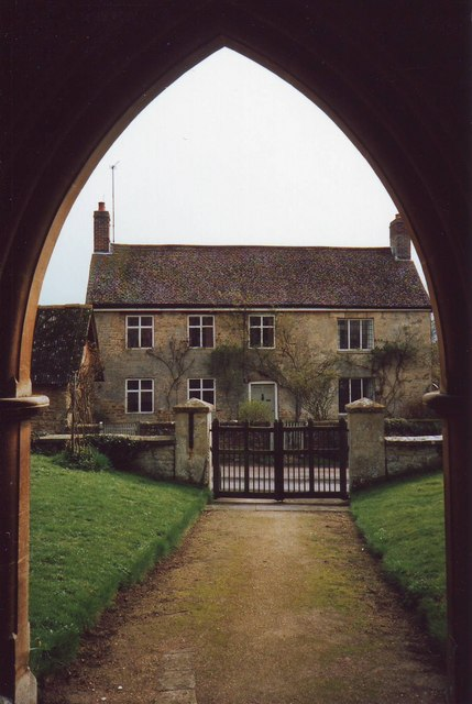Church path, Waterstock, Oxfordshire.