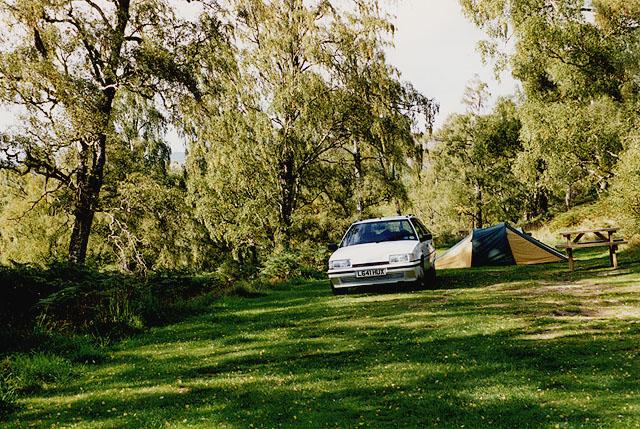 Camping at Faichem camp site