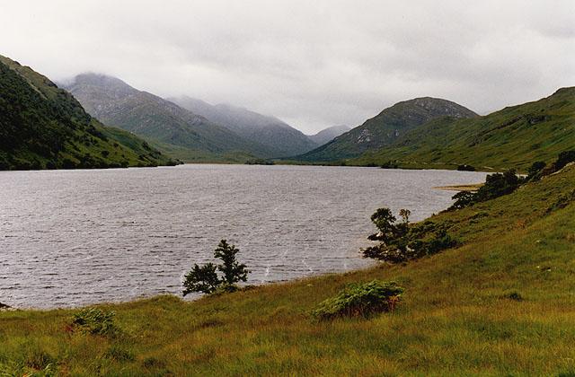 View down Loch Arkaig