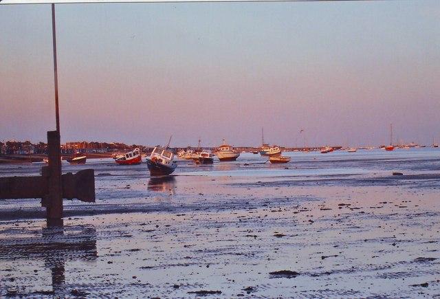The mud beach at Thorpe Bay, Essex